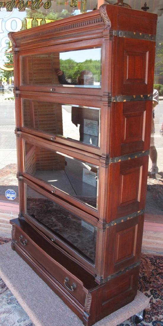 AN UNUSUAL GLOBE-WERNICKE STACKING BOOKCASE - 2