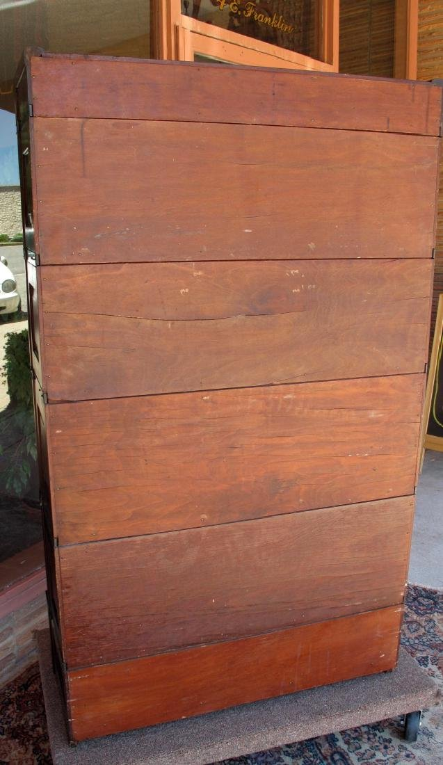 AN UNUSUAL GLOBE-WERNICKE STACKING BOOKCASE - 9