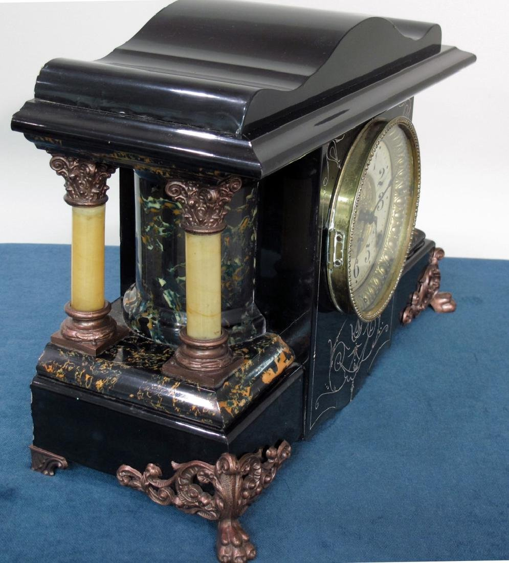 SETH THOMAS ANTIQUE EBONIZED CLOCK - 2