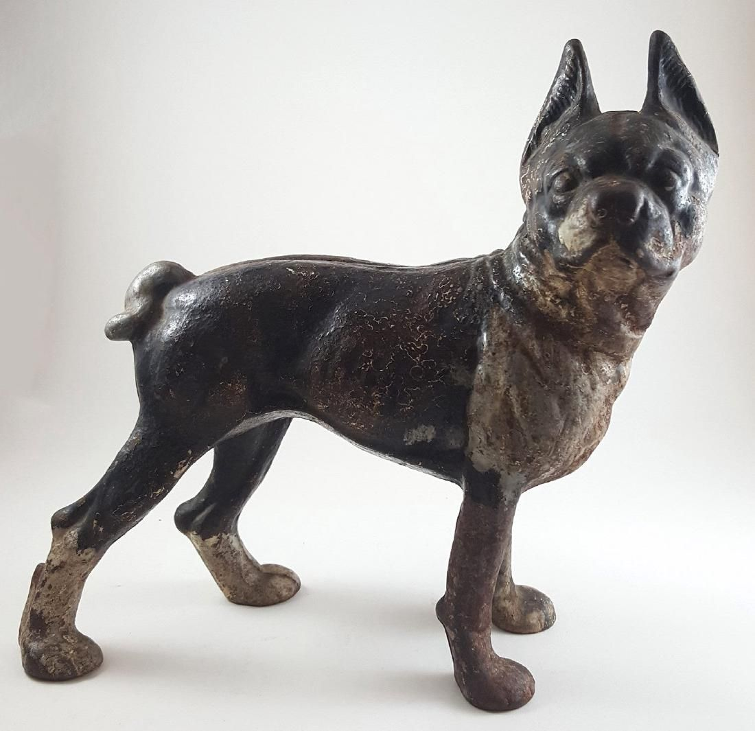 HUBLEY CAST IRON BOSTON TERRIER DOOR STOP