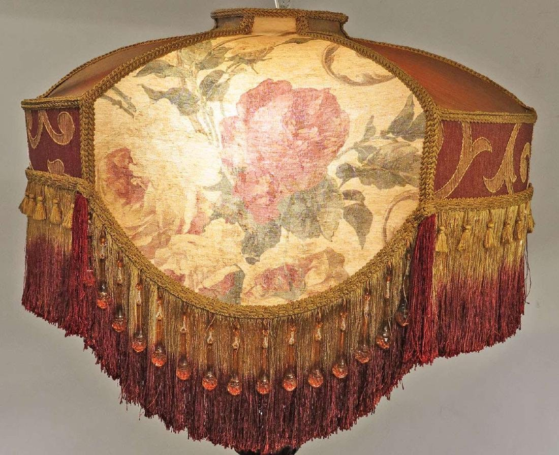 GOLD AND MAROON FLORAL VICTORIAN-STYLED LAMP SHADE