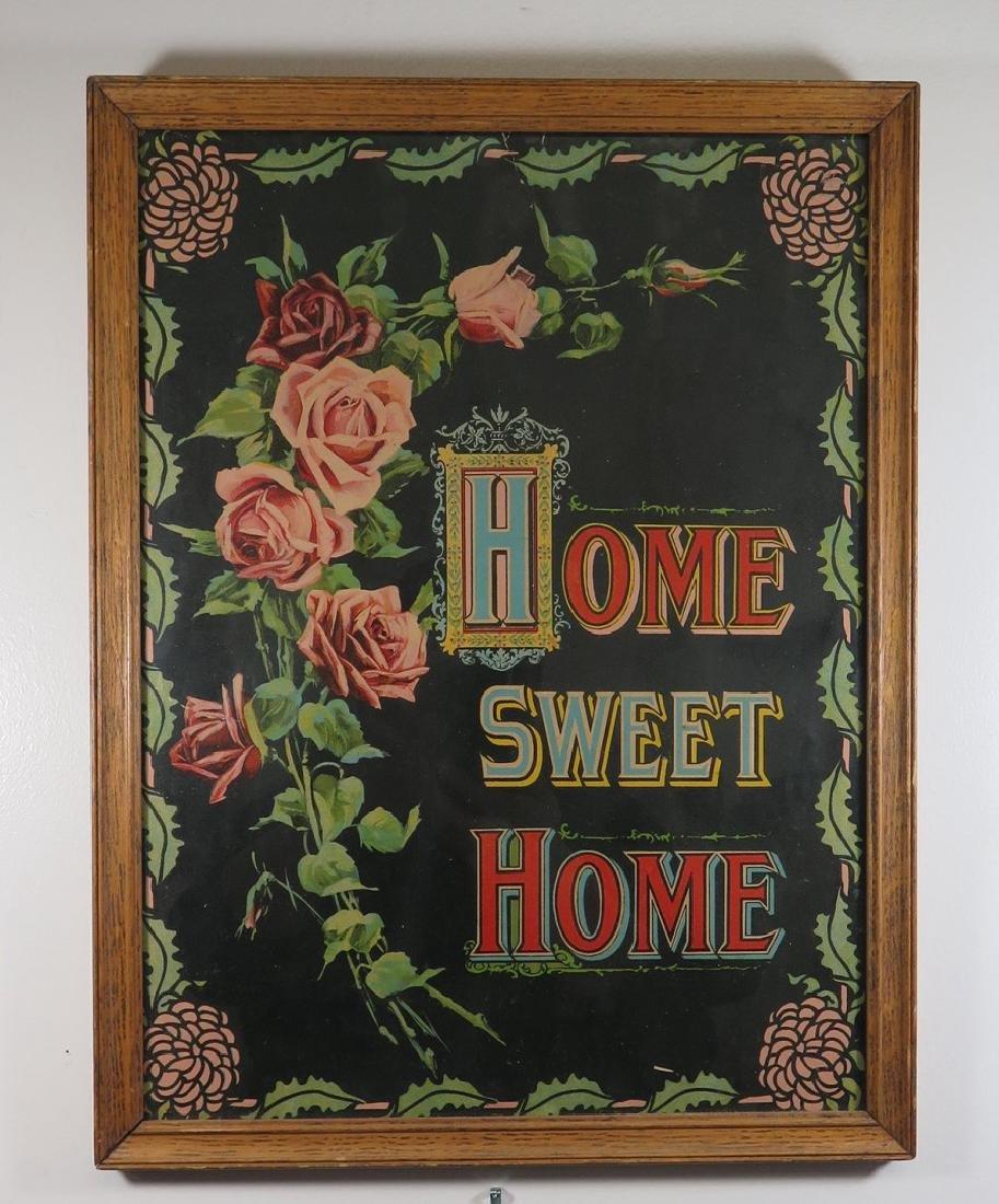 FRAMED 'HOME SWEET HOME' PRINT