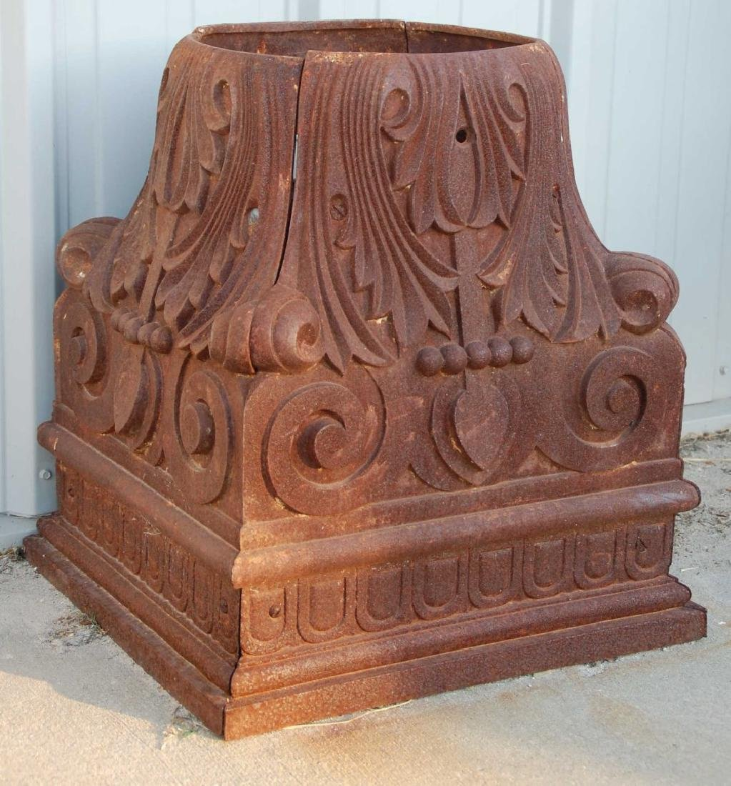 A FINELY CAST 19TH C. IRON ARCHITECTURAL CAPITOL
