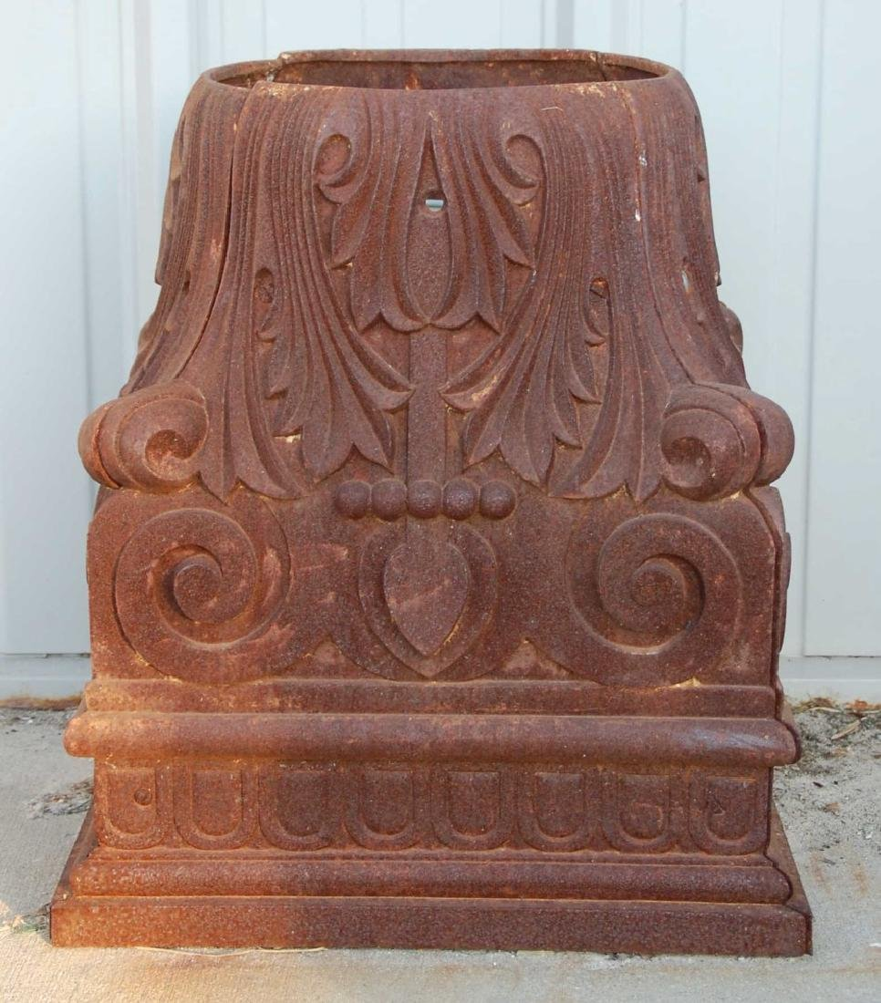 A FINELY CAST 19TH C. IRON ARCHITECTURAL CAPITOL - 2