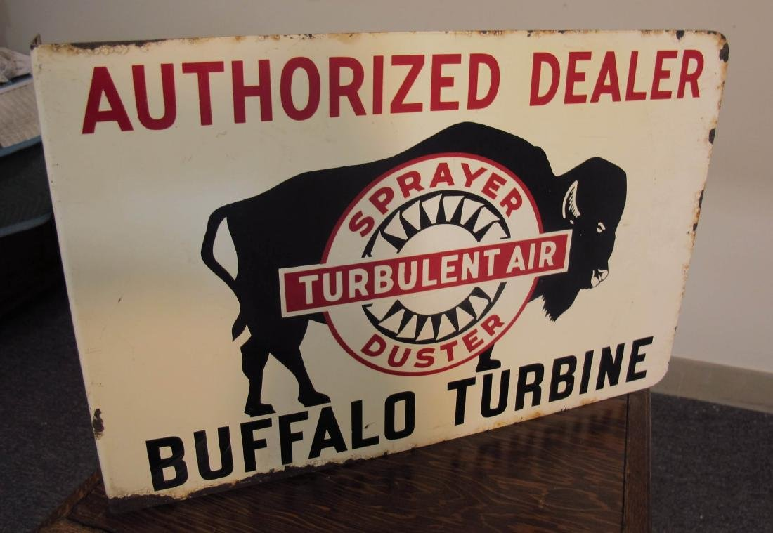 BUFFALO TURBINE CROP DUSTERS ADVERTISING FLANGE SIGN