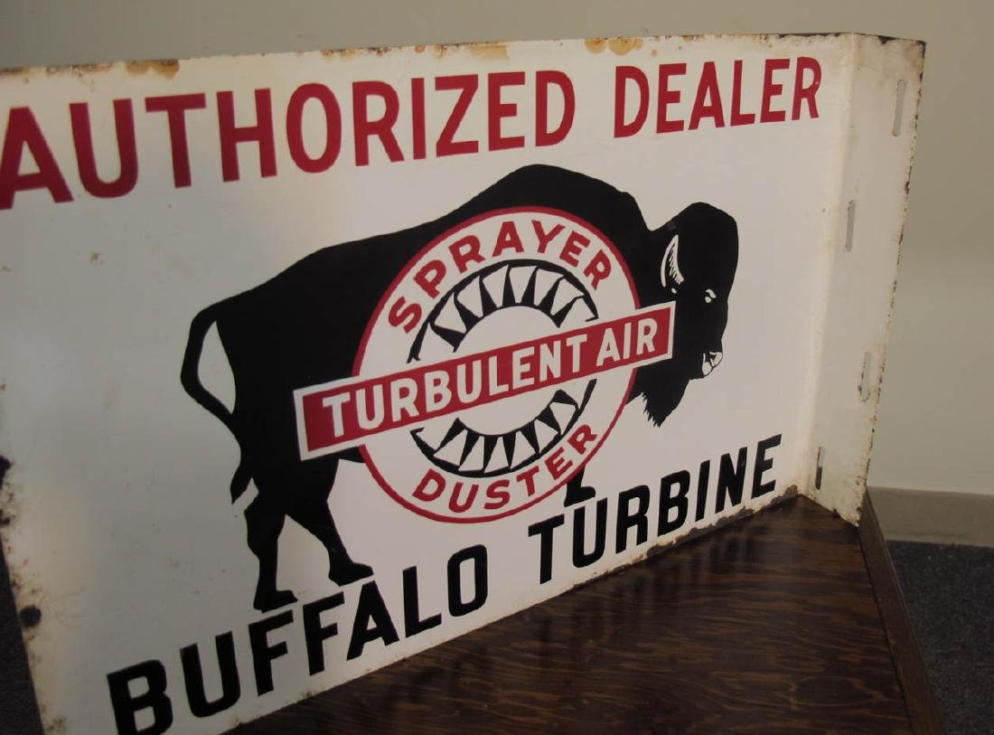 BUFFALO TURBINE CROP DUSTERS ADVERTISING FLANGE SIGN - 3