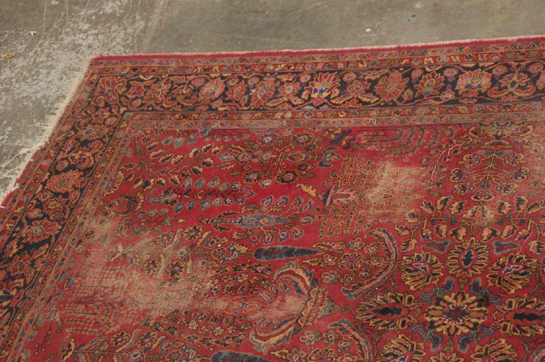 A MACHINE MADE PERSIAN STYLE ROOM SIZE RUG - 3