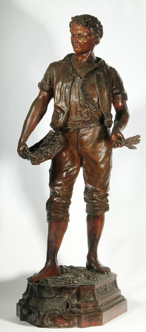 A LATE 19TH C. FRENCH PATINATED SPELTER SCULPTURE