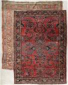 CIRCA 1930s PERSIAN SAROUK AND HAMADAN AREA RUGS