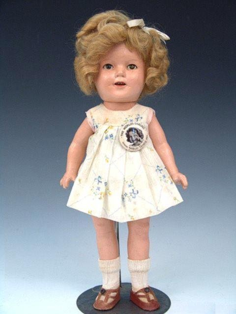 1: 1930 SHIRLEY TEMPLE COMPOSITION DOLL ALL ORIGINAL, 1