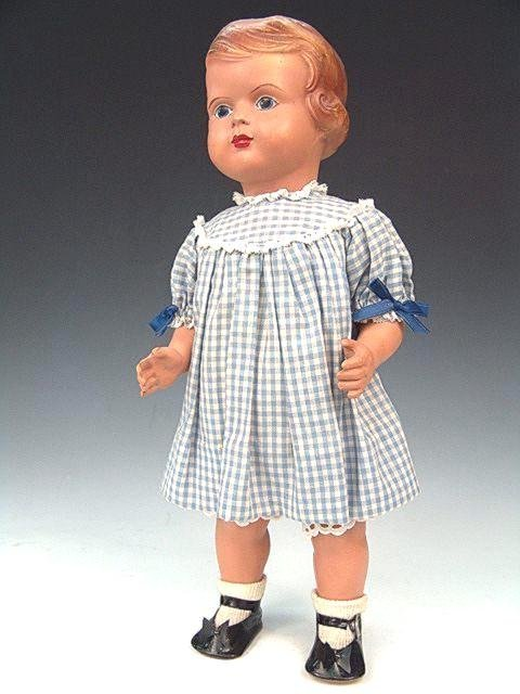 """10: FULLY JOINTED 1930'S 17"""" CELLULOID DOLL"""