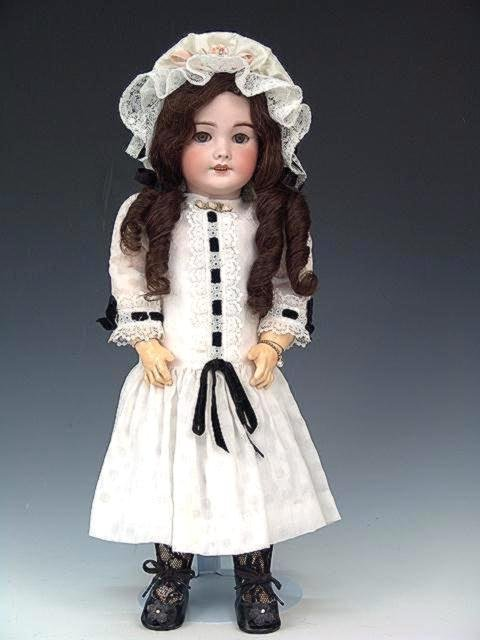 """74: CIRCA 1880 SFBJ FRENCH 20"""" BISQUE DOLL WITH VOICE"""