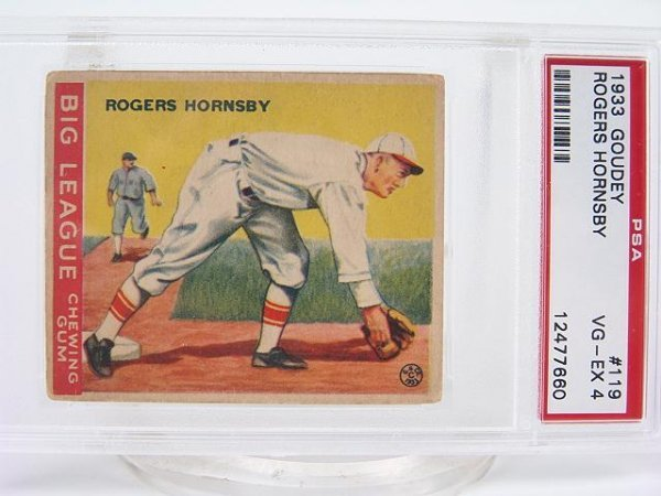 409: 1933 GOUDEY ROGERS HORNSBY #119 PSA VG-EX 4