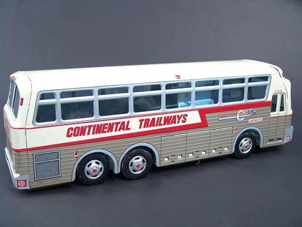 526: GOLDEN EAGLE TRAILWAYS TOY BUS IN BOX - 6