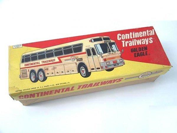 526: GOLDEN EAGLE TRAILWAYS TOY BUS IN BOX - 8