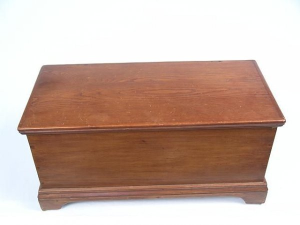 855: 1880'S PINE BLANKET BOX WITH TILL