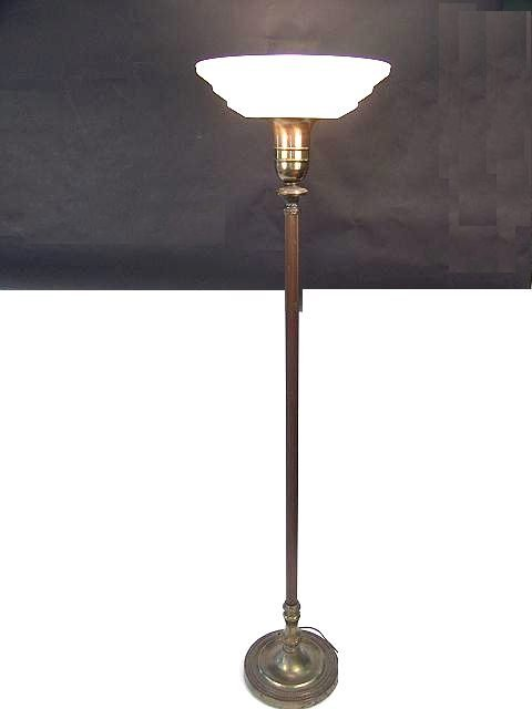858: 1920'S TORCHIERE LAMP