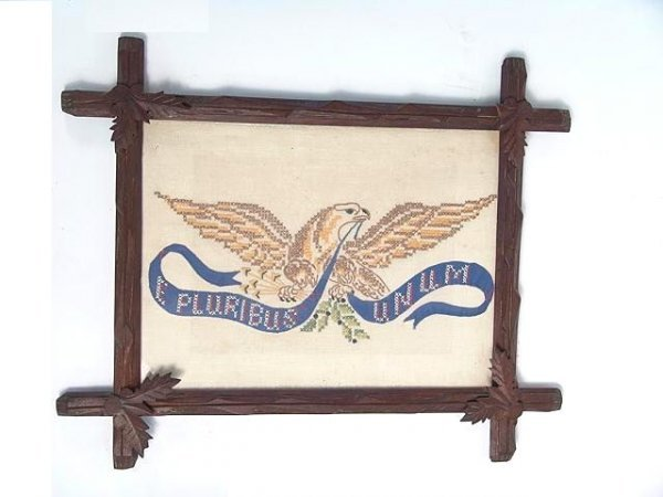 871: NEEDLEWORK PICTURE OF AN AMERICAN EAGLE