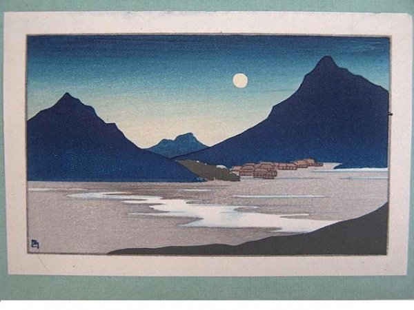2001: SMALL COLOR WOODBLOCK PRINT BY LILIAN MILLER