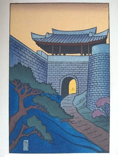 2003: 1927 COLOR WOODBLOCK PRINT BY LILIAN MILLER
