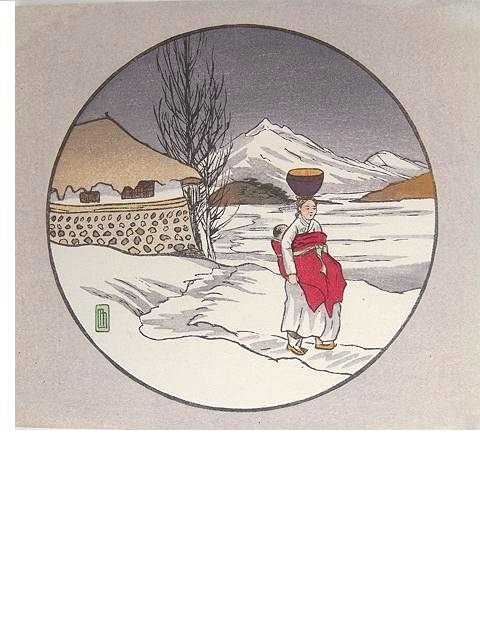 2008: COLOR WOODBLOCK PRINT BY LILIAN MILLER