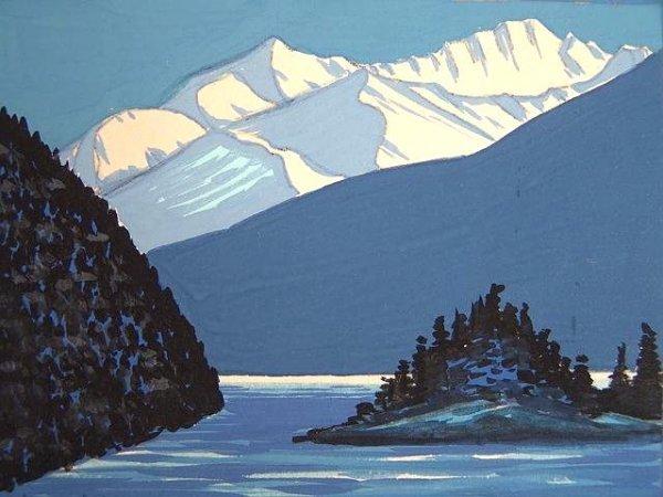 2011: THREE SMALL ALASKAN LANDSCAPE PAINTINGS BY LILIAN