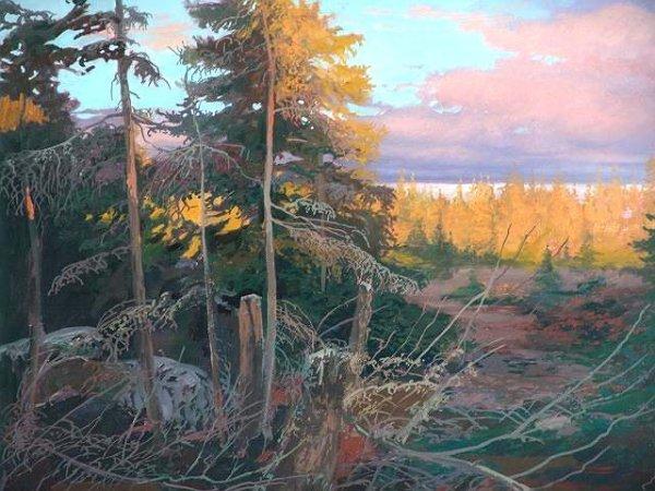 2141:  LANDSCAPE BY OHIO ARTIST MICHAEL SCOTT