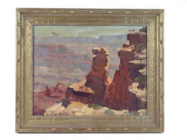 2149: FINE GRAND CANYON SCENE OIL BY EDGAR PAYNE (1852-