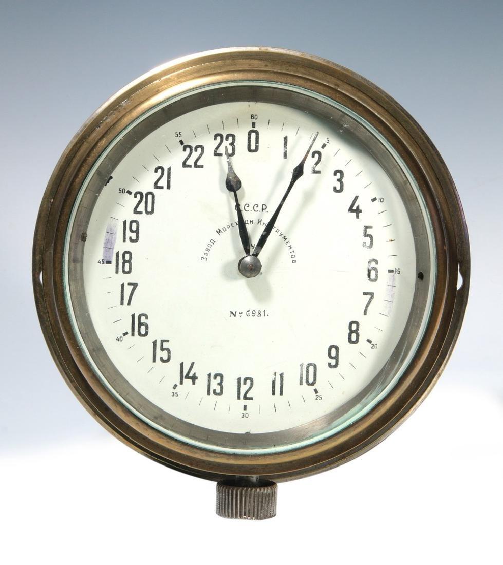 A VINTAGE USSR SUBMARINE WALL CLOCK