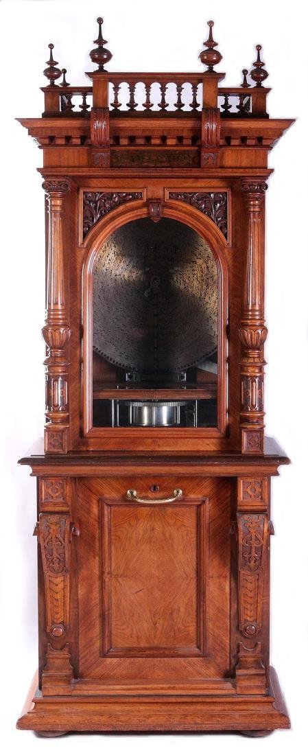 A COIN-OPERATED POLYPHON STYLE 54 MIKADO MUSIC BOX