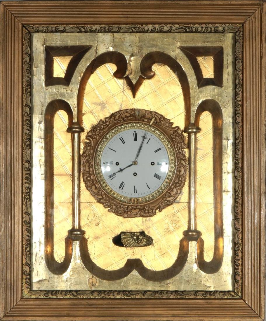 AN EARLY 19THC. GRAND SONNORIE PICTURE FRAME CLOCK