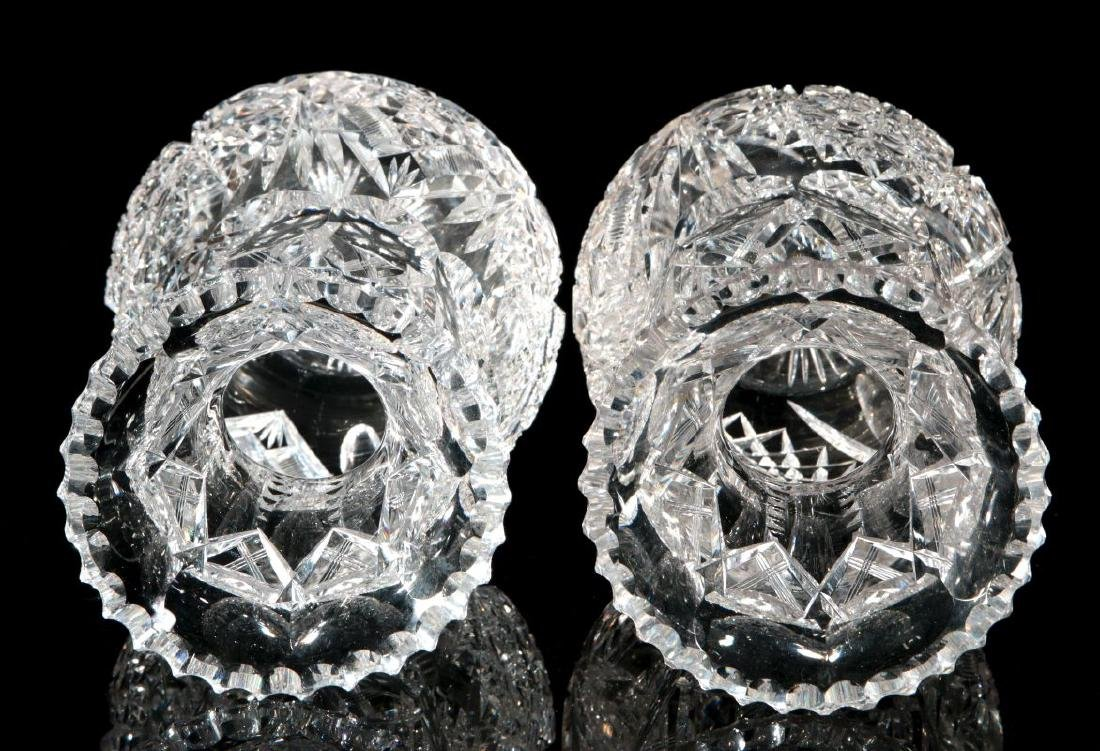 A PAIR OF CUT CRYSTAL VASES - 8