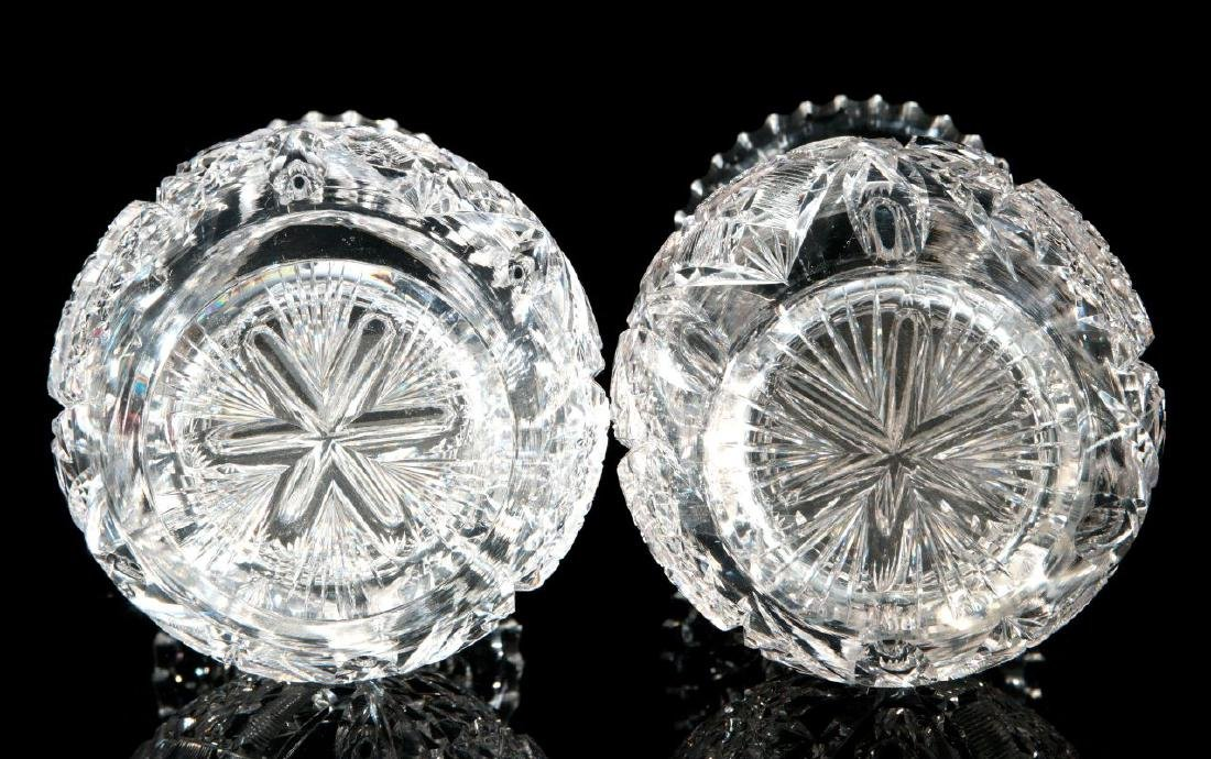 A PAIR OF CUT CRYSTAL VASES - 9