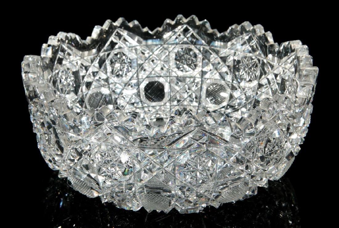 AN AMERICAN BRILLIANT PERIOD CUT GLASS BOWL