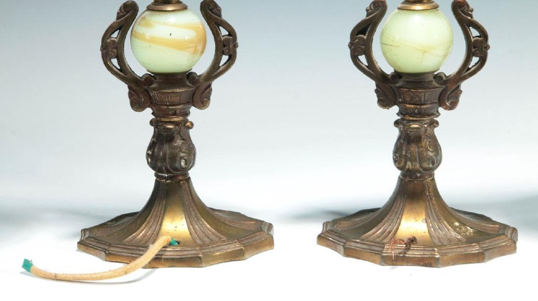 A GREAT PAIR OF C. 1920 PAINTED IRON PARROT LAMPS - 9