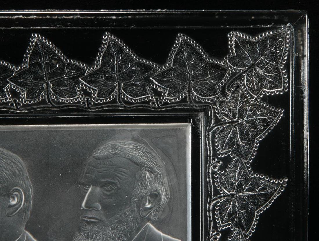 AN 1888 CLEVELAND-THURMAN HISTORICAL GLASS TRAY - 5