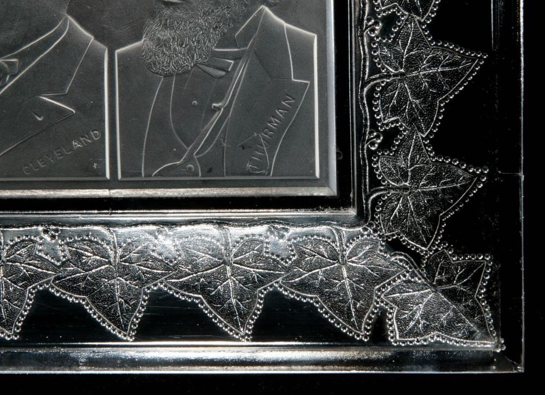 AN 1888 CLEVELAND-THURMAN HISTORICAL GLASS TRAY - 6