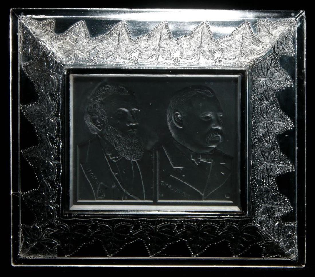 AN 1888 CLEVELAND-THURMAN HISTORICAL GLASS TRAY - 8