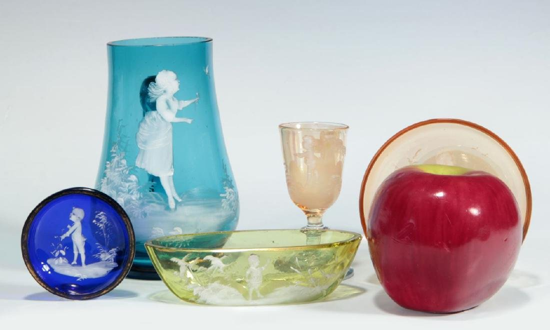A COLLECTION OF 19TH C. MARY GREGORY GLASS ARTICLES - 2