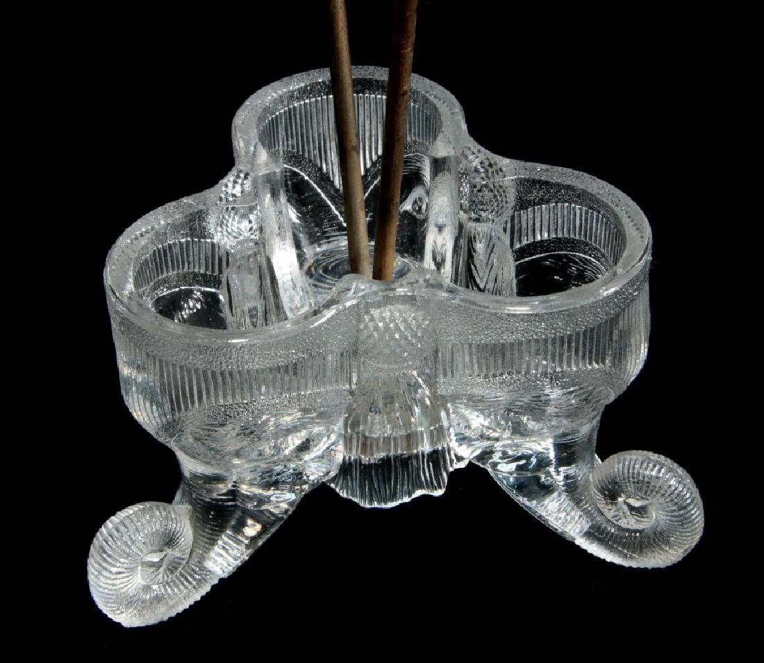 C 1890 GREENSBURG GLASS 'JUMBO' PATTERN CASTOR SET - 6