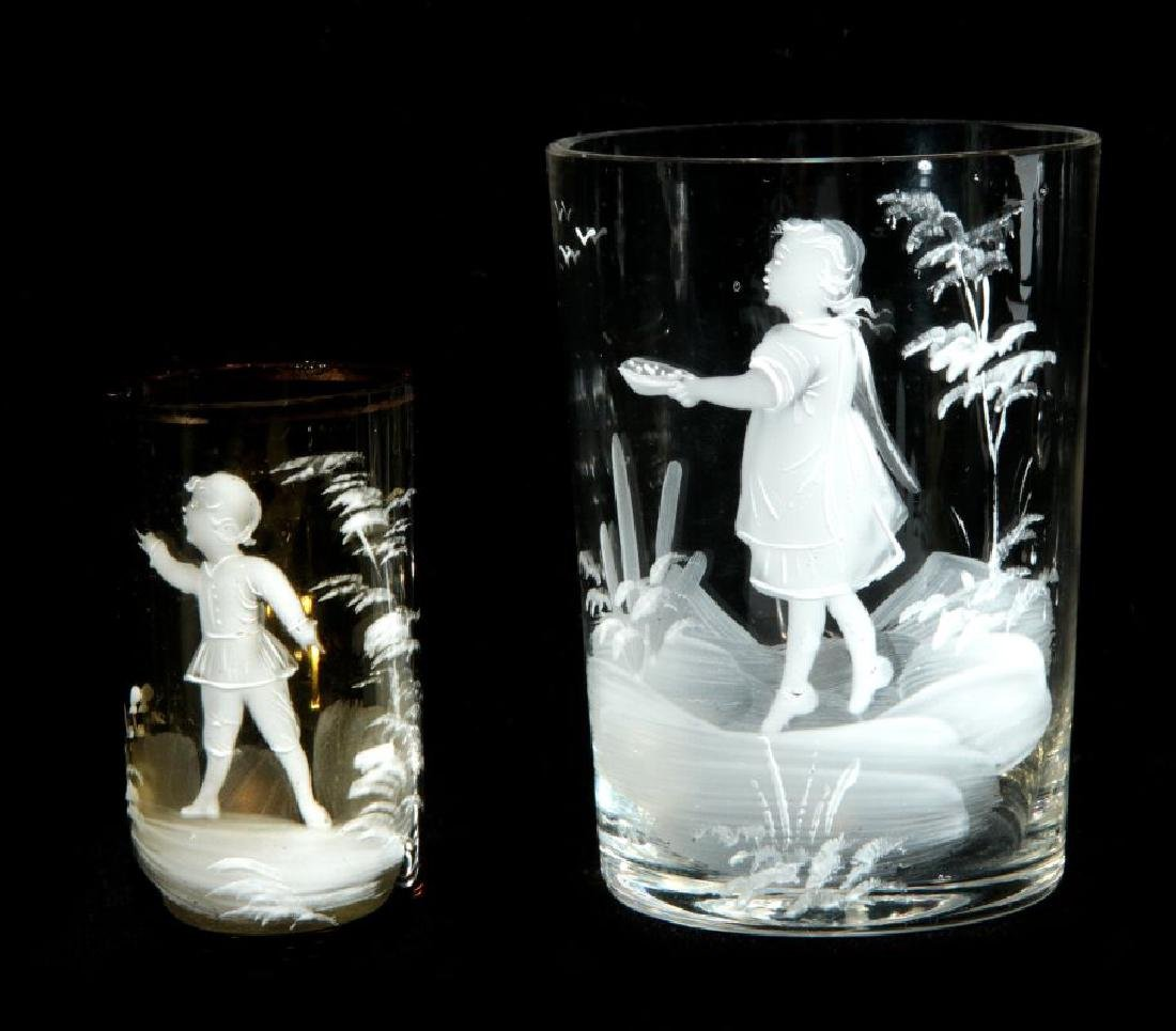 A COLLECTION OF 19TH C. MARY GREGORY GLASS ARTICLES - 6