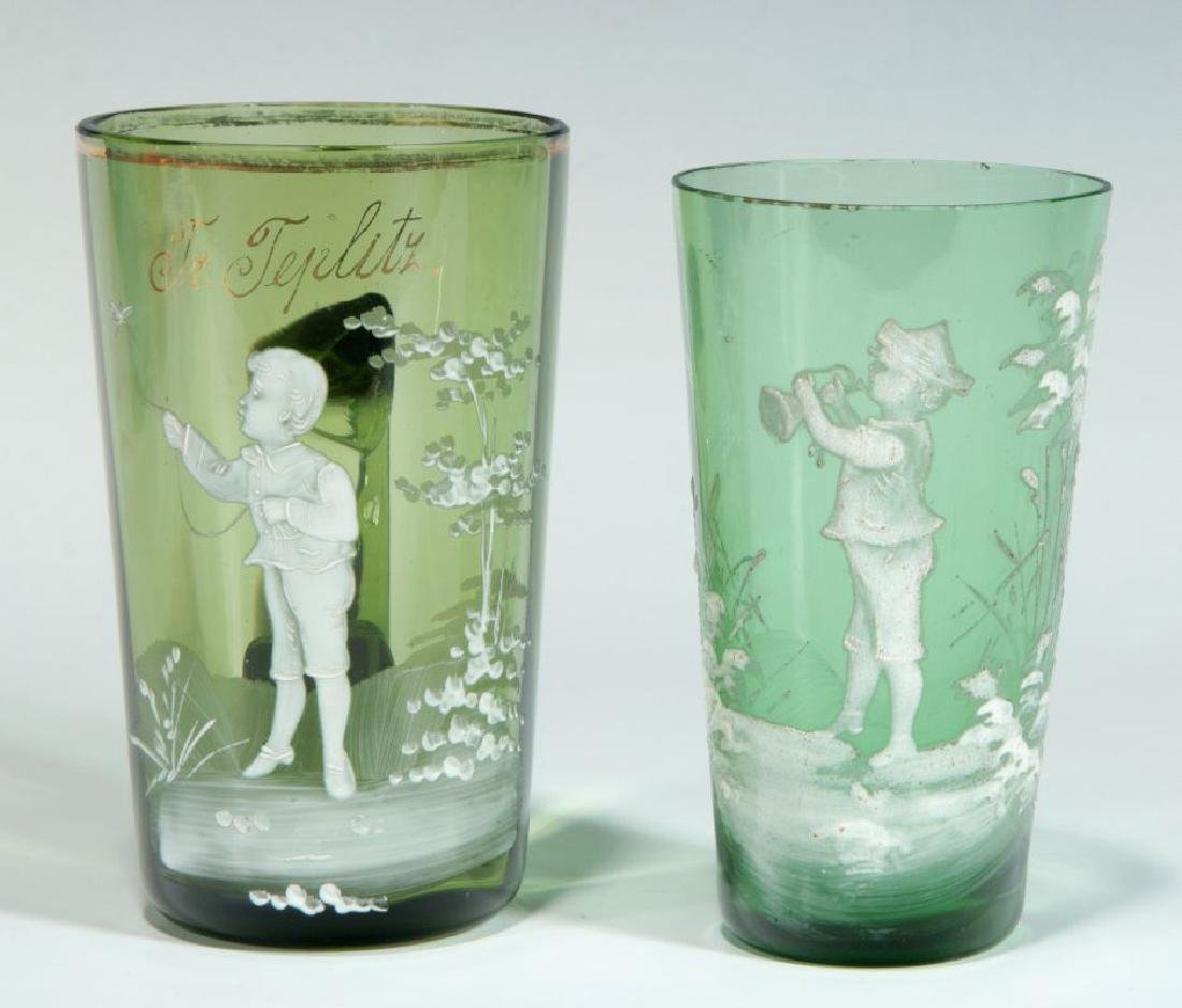 A COLLECTION OF 19TH C. MARY GREGORY GLASS ARTICLES - 8