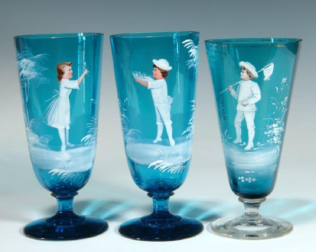 A COLLECTION OF 19TH C. MARY GREGORY GLASS ARTICLES - 3