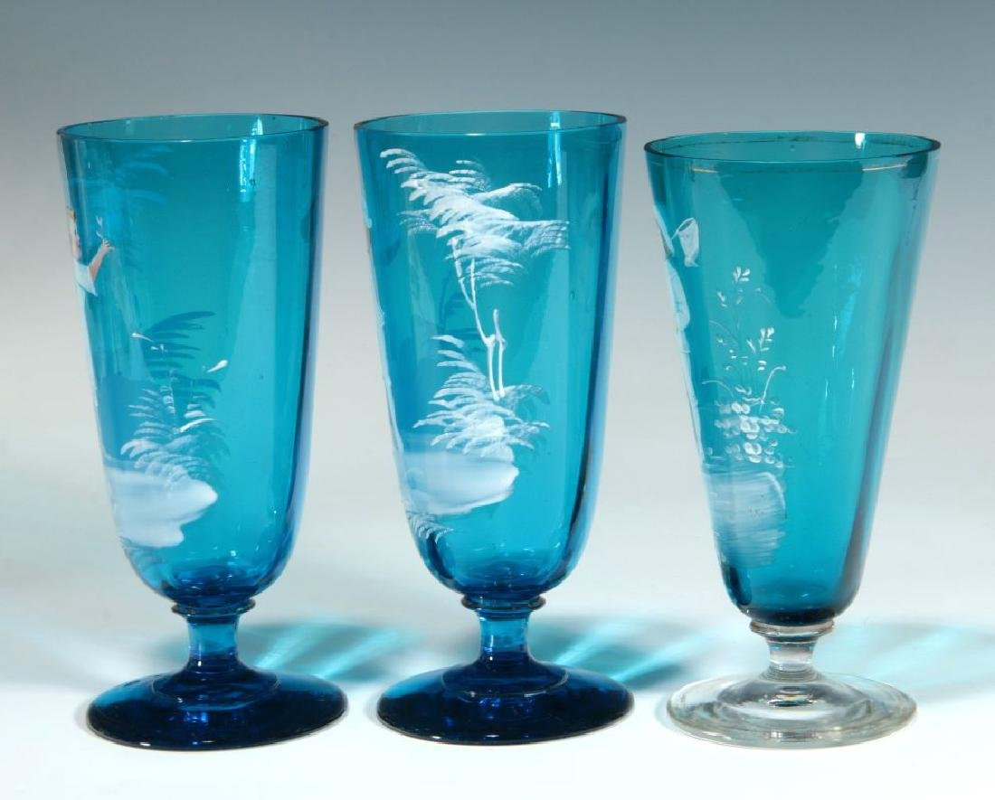 A COLLECTION OF 19TH C. MARY GREGORY GLASS ARTICLES - 5