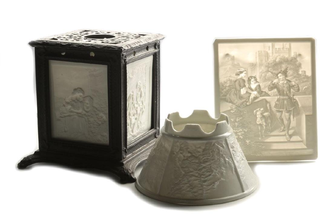 THREE 19TH CENTURY PORCELAIN LITHOPHANE ITEMS