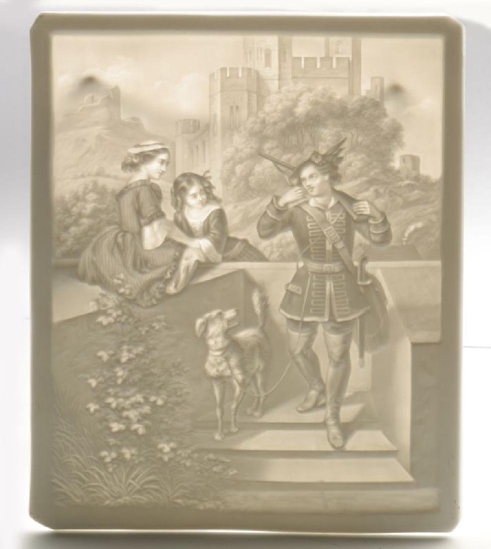 THREE 19TH CENTURY PORCELAIN LITHOPHANE ITEMS - 3