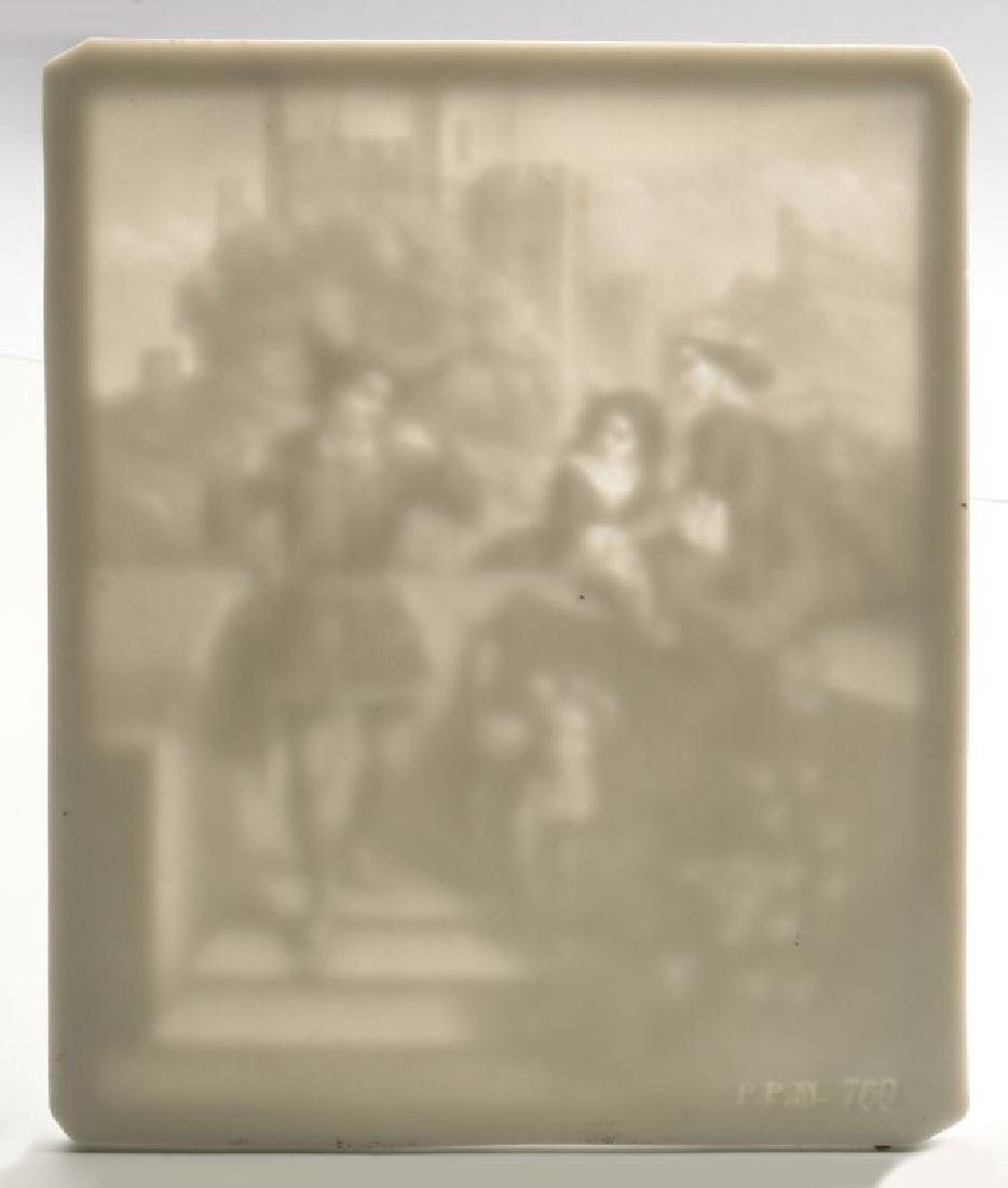 THREE 19TH CENTURY PORCELAIN LITHOPHANE ITEMS - 4