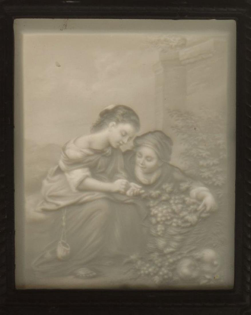 THREE 19TH CENTURY PORCELAIN LITHOPHANE ITEMS - 6