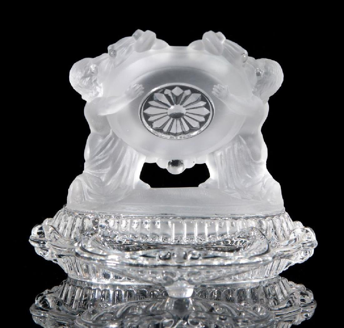 A BACCARAT FRENCH CRYSTAL WATCH HOLDER - 6