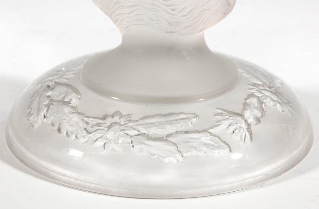 A 19TH CENTURY FROSTED JENNY LIND COMPOTE - 3